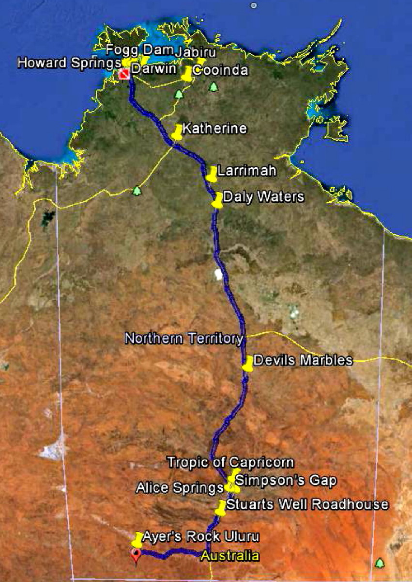 australlian outback rv caravan birding nature tour description